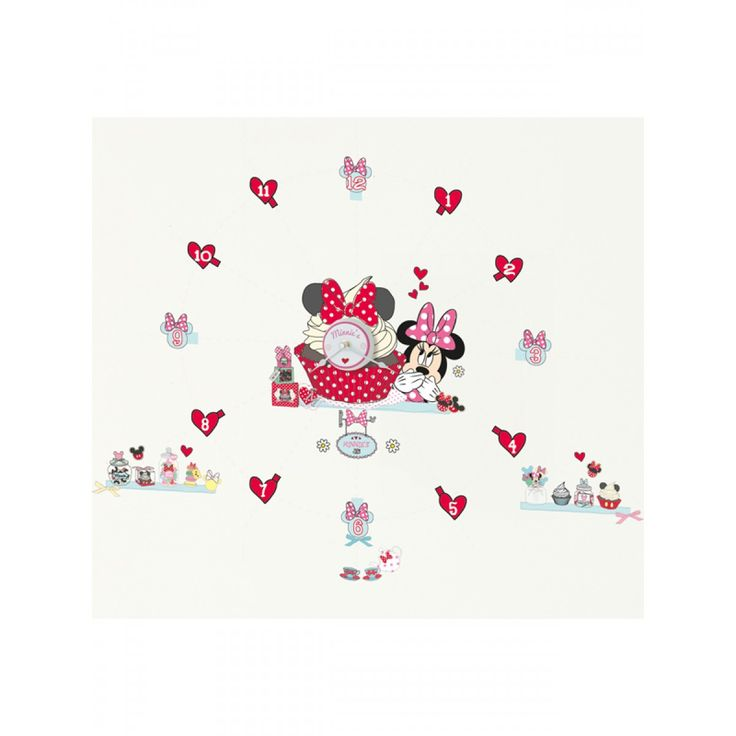 Minnie Mouse Tick Tock Clock and Wall Stickers makes a fun yet educational feature in any room! The pretty clock comes with 50 individual vinyl stickers that can be arranged to create a Minnie Mouse scene that ignites her imagination and gets her ready for the day ahead.