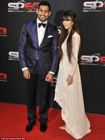 Boxer Amir Khan with wife Faryal at BBC Sports Awards - Arts & Entertainment Images & Photos