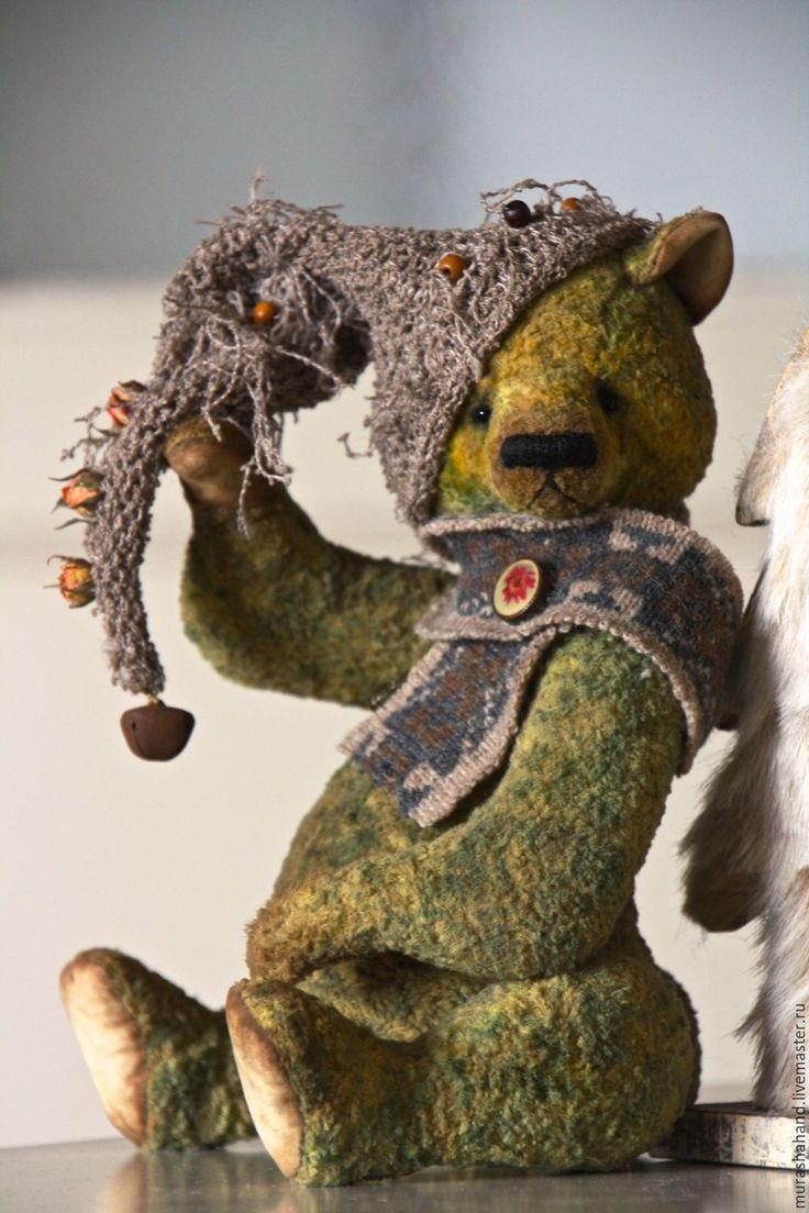 Купить Осенний лес 28 см во весь рост - антикварный плюш, любимый, интерьерная игрушка