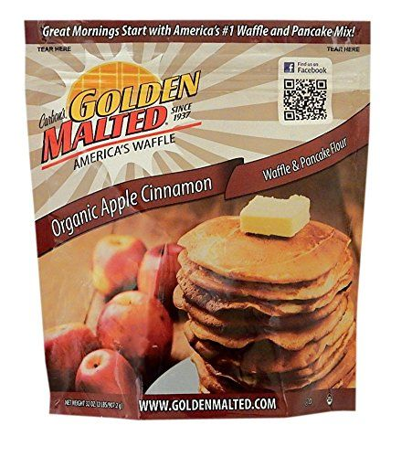 Carbon's Golden Malted Organic Apple Cinnamon Waffle and Pancake Flour, 32 Ounce >>> For more information, visit: at Baking Ingredients.