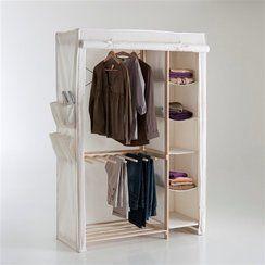 photo Promotion -25 % Armoire de rangement tissu, 1/3 lingère, 2/3 penderie La Redoute Interieurs (ancien prix : 148,00¤)