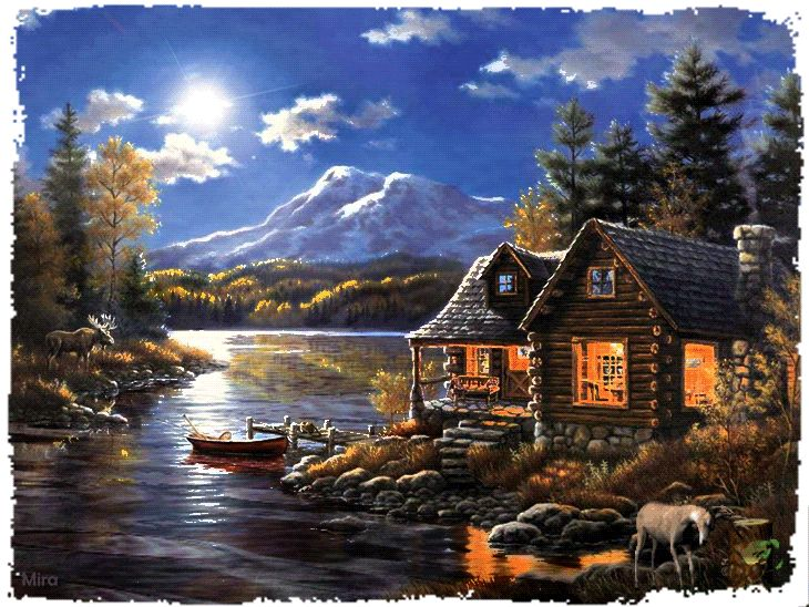 Thomas Kinkade Painting Animated By Mira Thank You Very Much photo by angellovernumberone