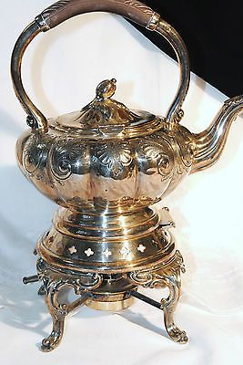 Vtg 1881 Rogers Canada Silver Plate Am Mts 7379 Hand Chased Tilt Stand Tea Pot   eBay