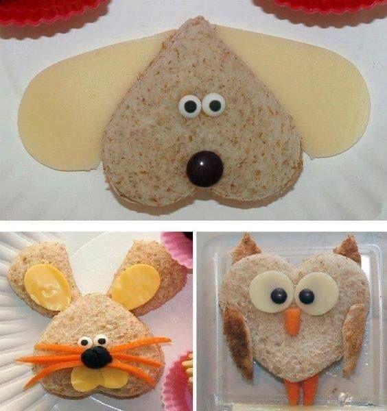 funky sandwich. Fun kids food.