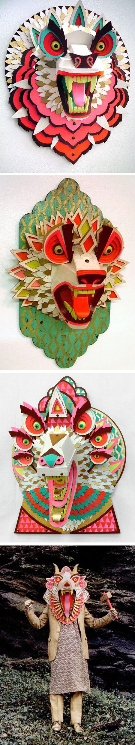aj fosikAj Fosik1, Wood Masks, Wooden Masks, Paper Masks, Amazing Wood, Paper Art, Asian Masks, Disguise Artists, Ajfosik