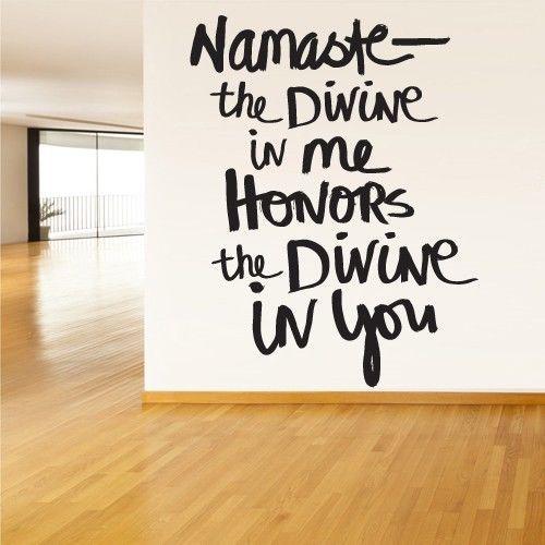 Wall Decal Vinyl Sticker Decals Namaste Indian Yoga Hamsa Words Sign Quote Z1343 | eBay