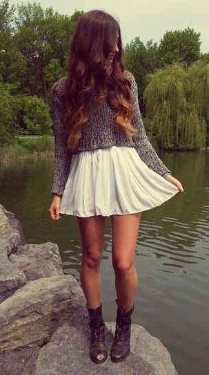 #fall #fashion / gray knit