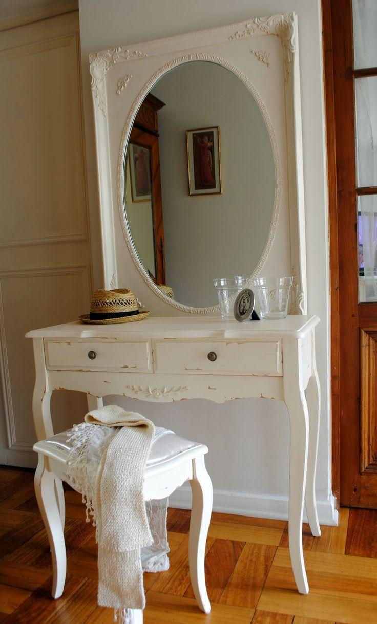 Tocador escritorio arrimo banqueta muebles estilo - Muebles de estilo provenzal ...