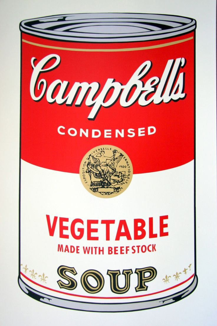 hey if you buy campbell 39 s soup i vegetable by andy warhol through my recommendation we both. Black Bedroom Furniture Sets. Home Design Ideas