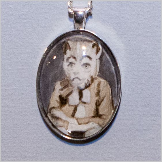www.artreflex.ru #gift_ideas: ask ART re.FLEX stuff for Anna Bittersohl's amulets. Initially Anna Bittersol was inspired by the long tradition - to give medallions with a portraits of potential grooms and bridesб which matchmakers brought to the grand people. Carnival images, old photographs, irony and style - the perfect combination for for original gift Timediving – 2014, 3x5 cm, amulet, ink on paper behind glass
