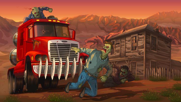 """Earn to Die 2012 : voilà le plus célèbre de jeux de """"roulage sur zombie"""" qui revient avec une nouvelle version. Écraser les zombies à la pelle n'a jamais été aussi facile !"""