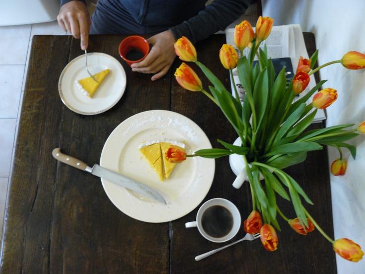 Lemon and Marcarpone tart recipe from Chef Gioegio Locatelli.
