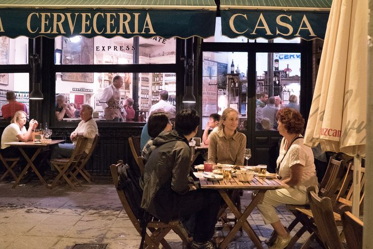 Especially on the #weekends there's a lot of people having a #greattime in the #tapas #restaurants of #Seville
