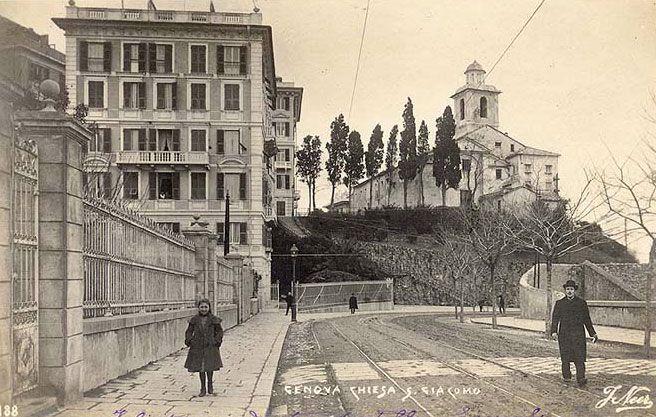 GENOVA - Via Corsica - FOTO STORICHE CARTOLINE ANTICHE E RICORDI DELLA LIGURIA