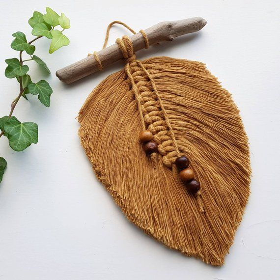 Macrame Feather Wall Hanger Macrame Feather Wall Hanging