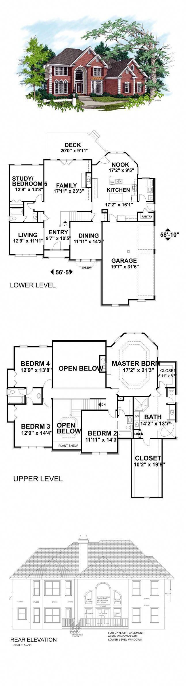 Colonial Style COOL House Plan ID chp 17912