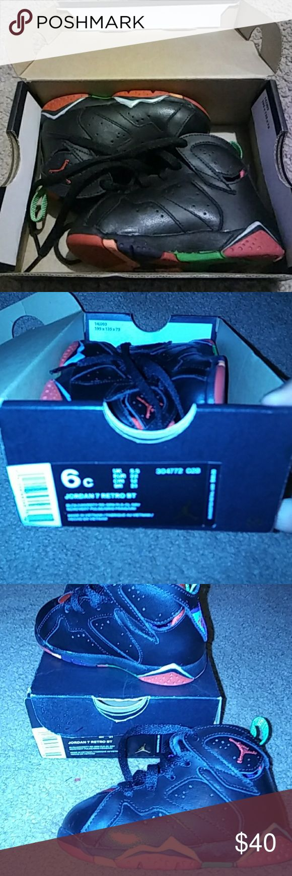 Jordan 7 Retro Jordan Retro size 6 Toddler Jordan Shoes Sneakers
