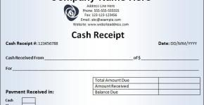 Download Free Cash Receipt Template