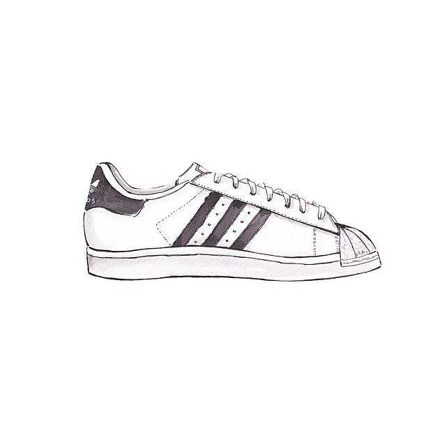 Valuable objects - Adidas Originals Superstar II Sneakers @adidasoriginals… Adidas  DrawingDrawing ClothesArt ...