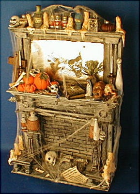 Halloween Miniature Fireplace