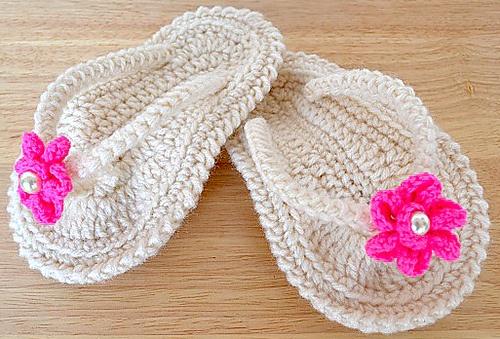 Ravelry: Crochet baby Flip Flop Sandals