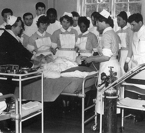 Nurse training 1950s.