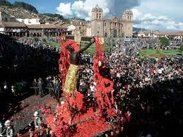 How to Participate  An easy place greet El Señor de los Temblores is Cusco's Plaza de Armas. You'll be centrally located to see and do other things once the procession passes through. It's also a place that ties the present to the past as today's Plaza was built directed atop the main square used by the Inca's as a gathering spot. The event always takes place the Monday after Palm Sunday, though keep in mind, Easter changes annually so plan accordingly.