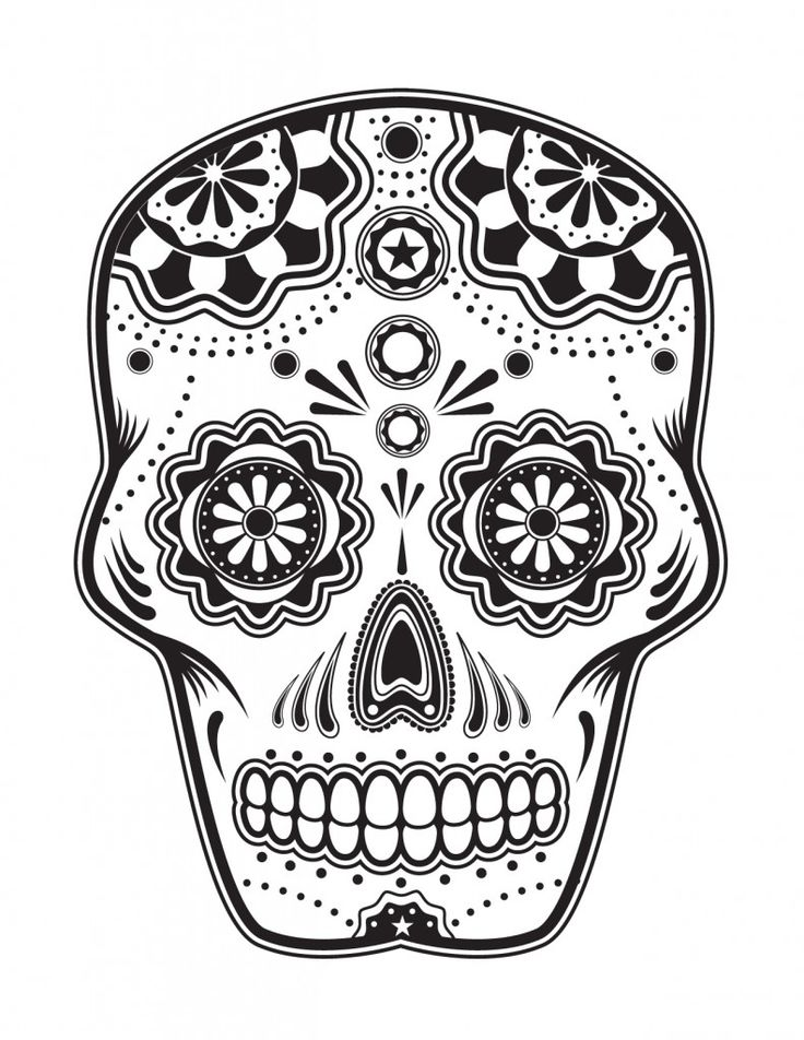 Day of the Dead, dia de los muertos, Sugar Skull, Coloring pages