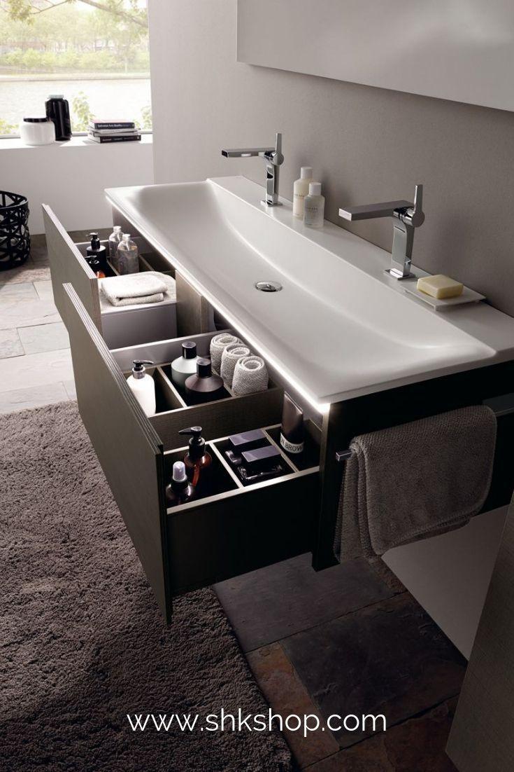 Keramag Xeno 2 Waschtischunterschrank 807762 1595x350x475mm Holzstruktur Scultura Grau Badezimmer Einrichtung Badezimmer Badezimmerideen