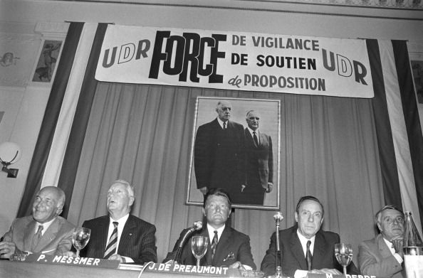 Pierre Messmer At The Election Of Alain Peyrefitte General Secretariat Of The Udr September 6, 1972