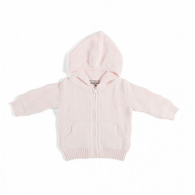 Maglioncino con cappuccio e zip Baby's Only Classic Pink