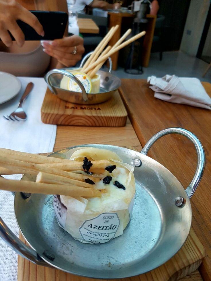 Azeitao Cheese tapas Portugal Algarve Vilamoura Salmora Restaurant