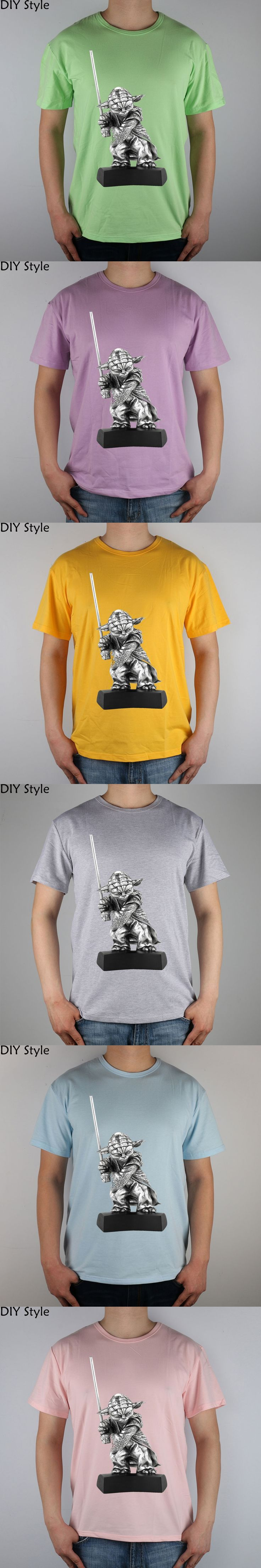 Royal Selangor Star Wars Yoda Figurine t-shirt Top Lycra Cotton Men T Shirt New Diy Style