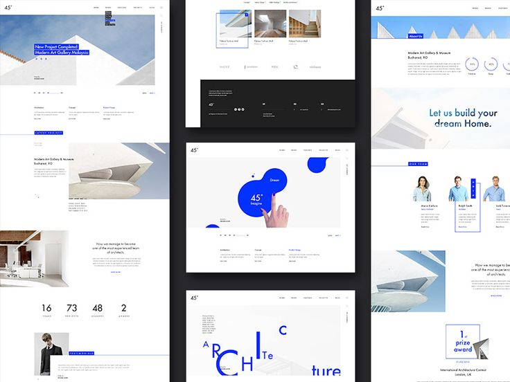 45 degrees - Architecture Studio PSD Template Download
