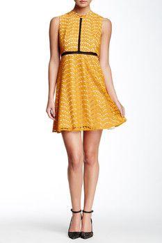 ABS by Allen Schwartz Lace Babydoll Dress