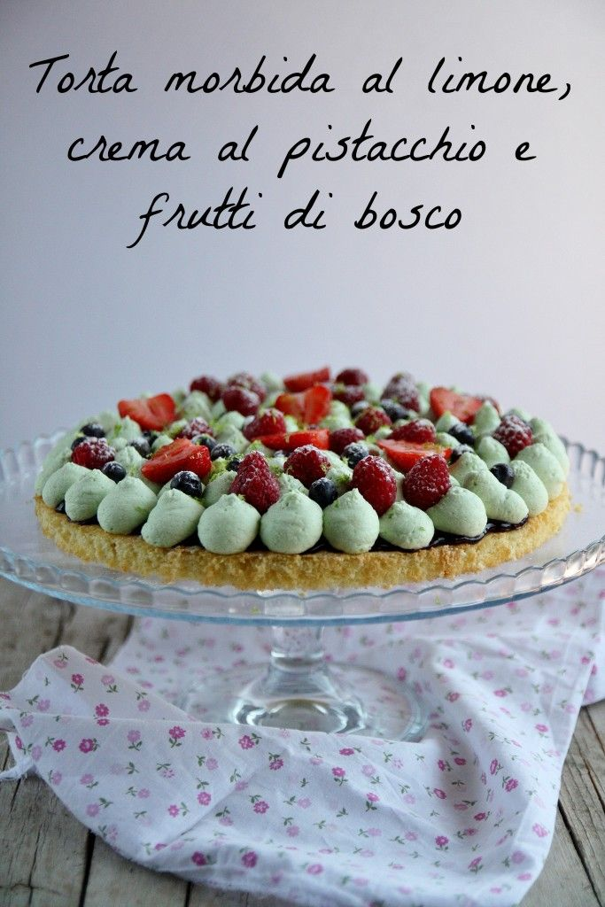 torta al limone e frutti di bosco