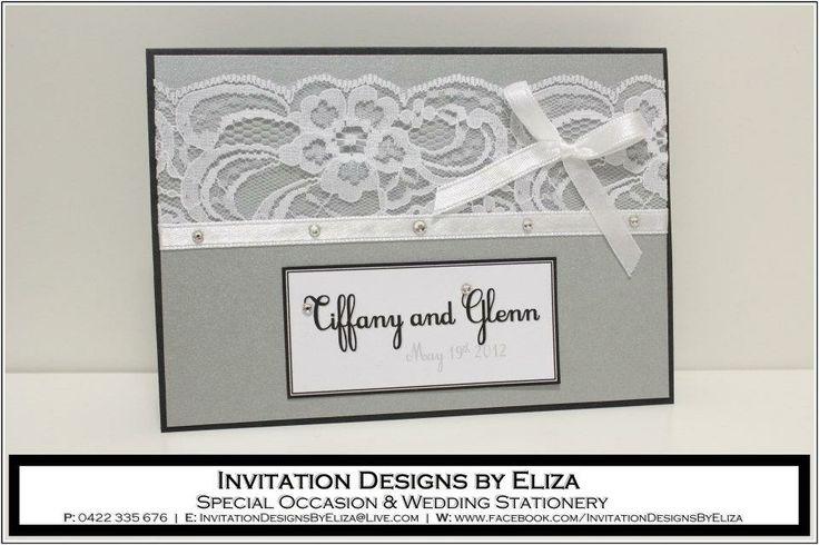 Invitation Designs  {Wedding} Silver, Black & White Theme www.facebook.com/InvitationDesignsByEliza