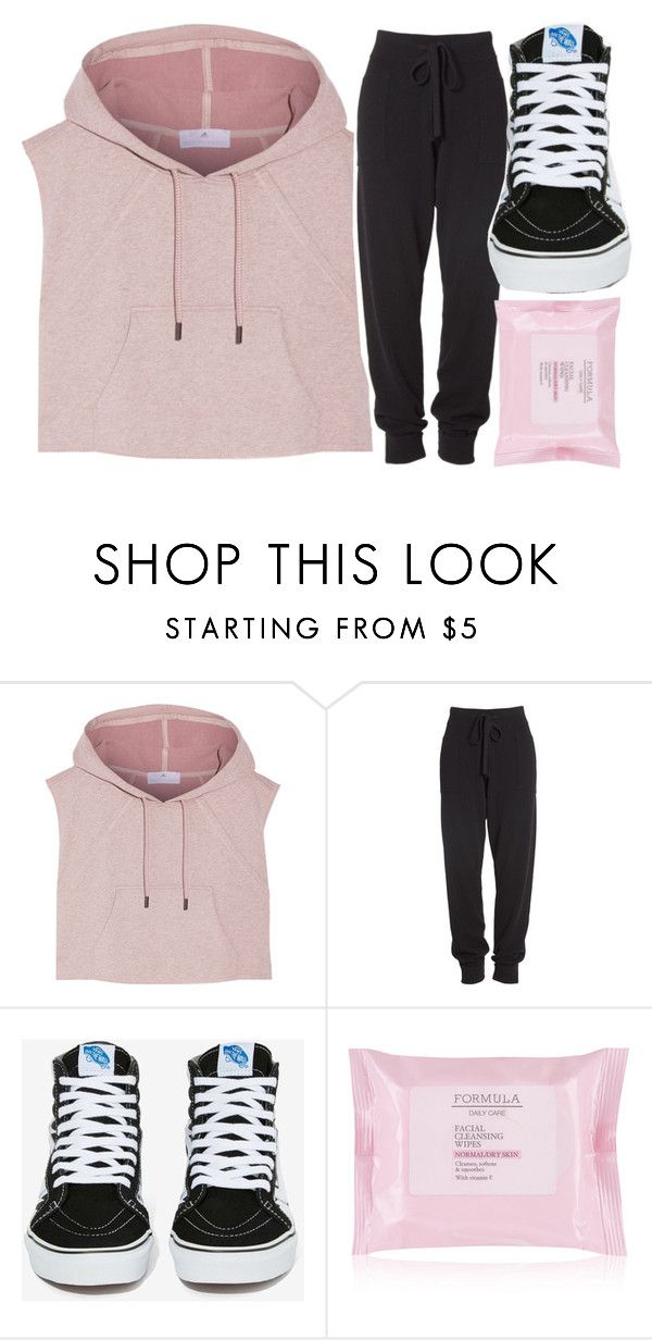 """rose gold outfit"" by volleyballspikr on Polyvore featuring adidas, Donna Karan and Vans"