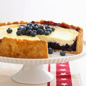 blueberry-sour cream dessert