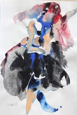 "Saatchi Art Artist Dong Li-Blackwell; Painting, ""untitled dancer"" #art"