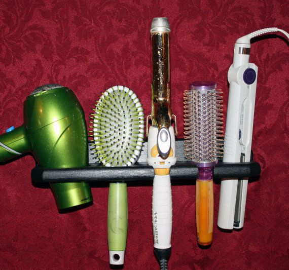 Hair Blow Dryer Curling Flat Iron Brush by northwoodscrafts, $24.95 on Etsy. Love the simplicity of it.