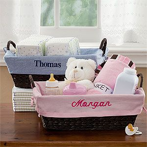 Create lasting memories with the Personalized Wicker Baskets for Baby Girls. Find the best personalized baby gifts at PersonalizationMall.com