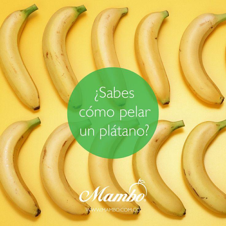 Consejos Mambo para pelar un plátano macho http://mambo.com.co/consejos/detalle?id=12&categoria=2