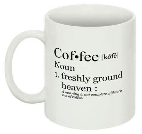 Coffee mug following the classical form factor