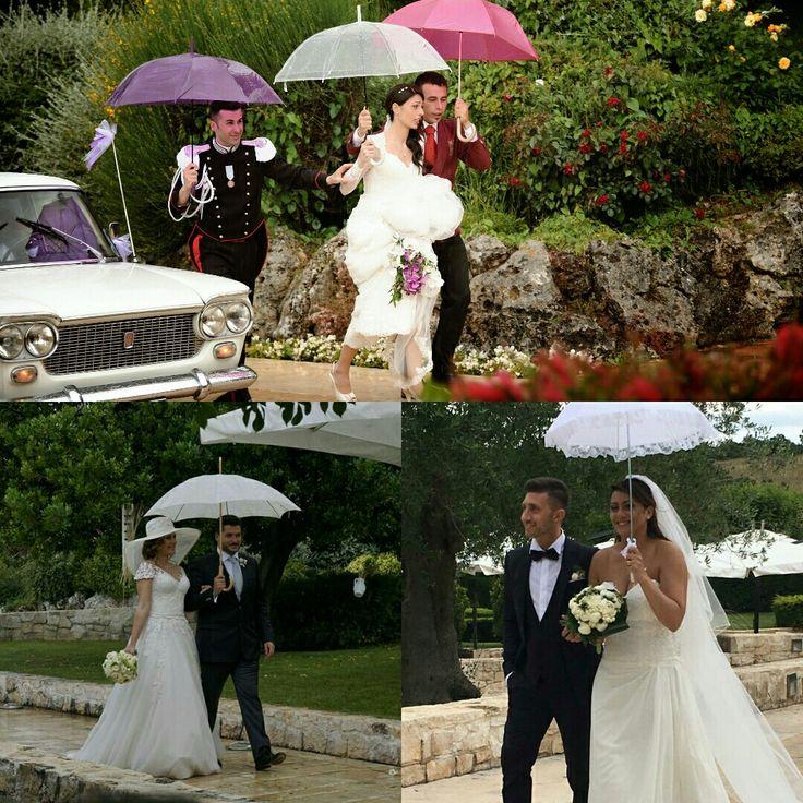 Sposa con l'ombrello...