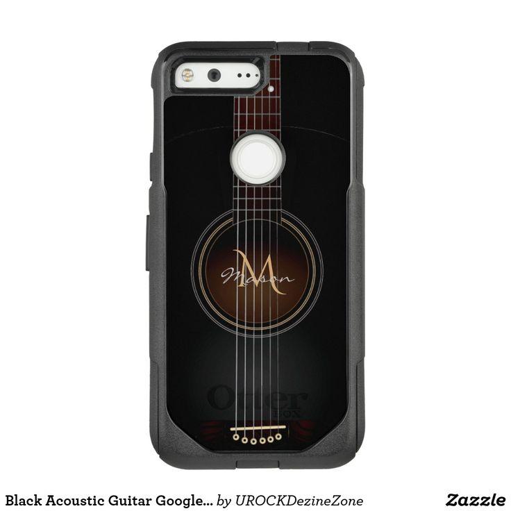 Black Acoustic Guitar #Google #Pixel Case #Guitar