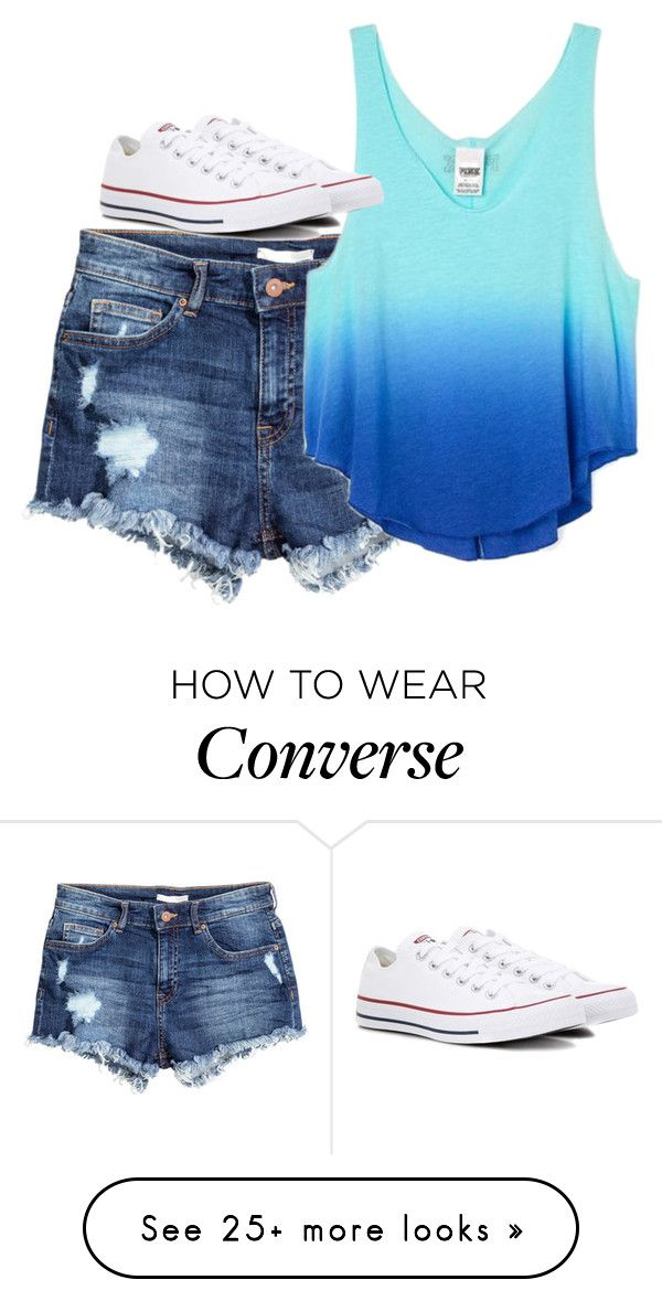 """Untitled #3273"" by laurenatria11 on Polyvore featuring H&M, Victoria's Secret and Converse"