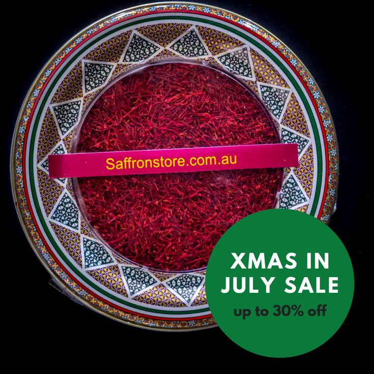 Xmas in July SALE! Up to 30% OFF across the range + FREE SHIPPING  Our saffron is of highest quality Persian saffron, all red, Grade-1. They call it the red gold, we provide it with affordable prices so everyone can try this luxurious spice without emptying their wallet.  Saffronstore.com.au   Coles & Woolies sell 0.1 gram for $14!!! We provide highest quality saffron 1 gram for $7.50! Fresh saffron with new and beautiful packaging.