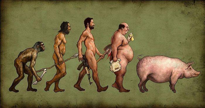 Essas divertidas ilustrações revelam que nem em todos os aspectos evoluímos para melhor.
