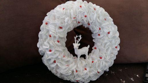 Tuto: une couronne de Noël  version chantilly
